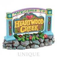 Department 56 Welcome to Heartwood Creek Sign