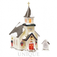 Department 56 Holy Family Church, set of 2