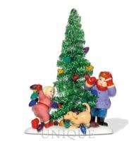 Department 56 Everyone Decorates Tinsel Tree