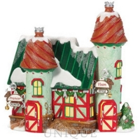 Department 56 The Reindeer Stables, Prancer & Vixen