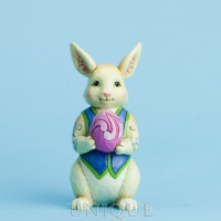 Jim Shore Heartwood Creek Mini Bunny With Egg Figurine