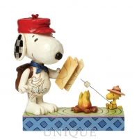Jim Shore Heartwood Creek Snoopy and Woodstock Campfire