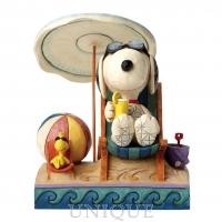 Jim Shore Heartwood Creek Snoopy and Woodstock at Beach