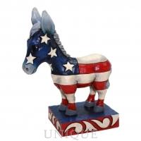 Jim Shore Heartwood Creek Patriotic Donkey