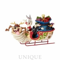 Jim Shore Heartwood Creek Looney Tunes Sleigh Ride