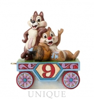 Jim Shore Heartwood Creek Chip and Dale Train Age 9