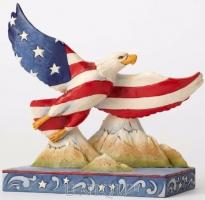 Jim Shore Heartwood Creek Patriotic Flag Eagle