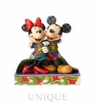 Jim Shore Heartwood Creek Mickey and Minnie With Quilt