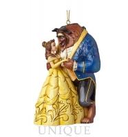 Jim Shore Heartwood Creek Belle and Beast Ornament