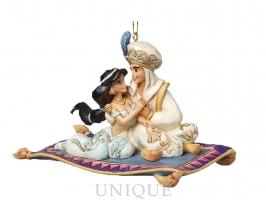 Jim Shore Heartwood Creek Princess Jasmine and Aladdin Ornament