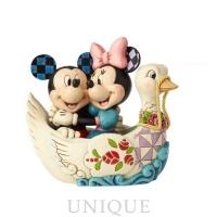Jim Shore Heartwood Creek Mickey & Minnie in Swan