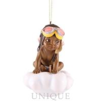 Blackshear Collection Adorable Girl Ornament