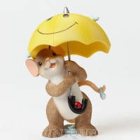 Charming Tails 2015 Members Only Figurine-Let A Smile Be Your Umbrella