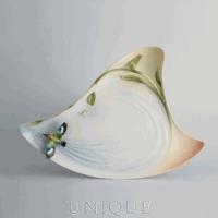 Franz Porcelain Bamboo Song Bird Collection: Porcelain Tray