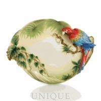 Franz Porcelain Amazon Rain Forest (parrot): Ornamental Platter