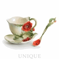 Franz Porcelain Floral Blossoms: Cup & Saucer set