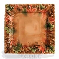 Franz Porcelain Golden Leaf and Acorn:  tray