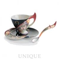 Franz Porcelain Flora and Flutter: Cup and Saucer