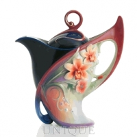 Franz Porcelain Flora and Flutter: Teapot