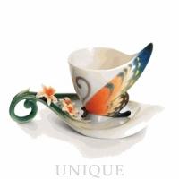 Franz Porcelain Butterfly: Cup & Saucer