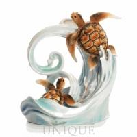 Franz Porcelain Turtle Bay Sculptured Vase