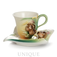 Franz Porcelain Safari Hippo: Cup & Saucer