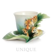 Franz Porcelain Safari Tiger: Cup & Saucer