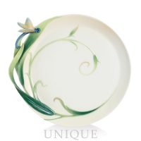 Franz Porcelain Peace and Harmony Bamboo: Round Plate