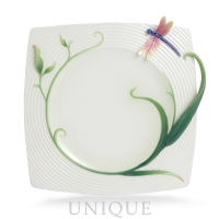 Franz Porcelain Peace and Harmony Bamboo: Square Plate