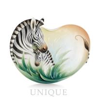 Franz Porcelain Zebra Ornamental Platter