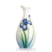 Franz Porcelain Eloquent Iris flower: porcelain mid size vase