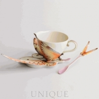Franz Porcelain Papillon butterfly design: Cup & Saucer set