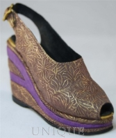 Just the Right Shoe Golden Leaf