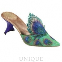Just the Right Shoe Peacock Feathers