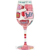Lolita Glasses Text Me Wine Glass