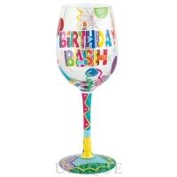 Lolita Glasses Birthday Bash Wine Glass