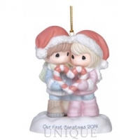 Precious Moments Our First Christmas Together - Dated 2014 Ornament