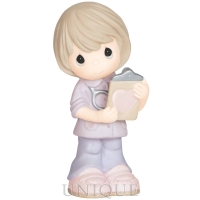 "Precious Moments ""Heart Of Gold"" Bisque Porcelain Figurine"