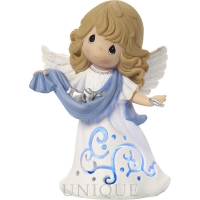 """Precious Moments """"Hark! The Herald Angels Sing"""" Musical Lighted Figurine"""