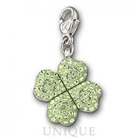 Swarovski Crystal Lucky Clover Charm