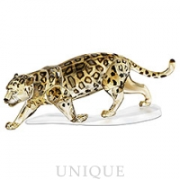Swarovski Crystal Jaguar, Crystal Golden Shine