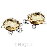 Swarovski Crystal Baby Tortoises, Crystal Golden Shadow