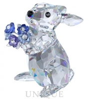 Swarovski Crystal Rabbit with Forget-me-not