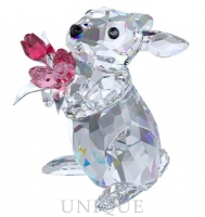 Swarovski Crystal Rabbit with Tulips