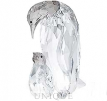 Swarovski Crystal Penguin Mother with Baby