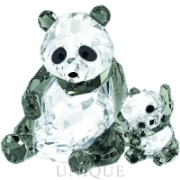 Swarovski Crystal Panda Mother With Baby