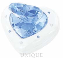 Swarovski Crystal Heart Box, blue