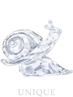 Swarovski Crystal Snail On Leaf