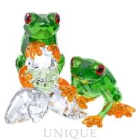 Swarovski Crystal Frogs