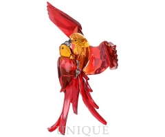 Swarovski Crystal Red Parrots